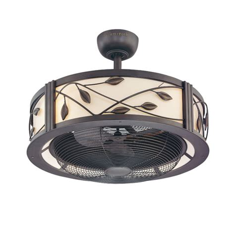 ceiling fans with lights at lowes lowes allen roth 23 inch leaf light aged bronze ceiling fan fans lighting furniture