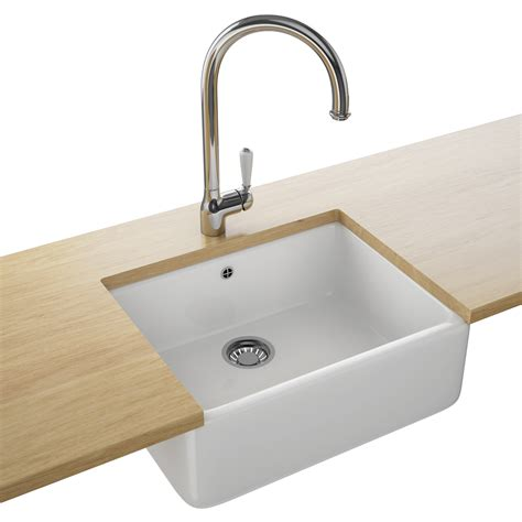 White Sink Franke Belfast Vbk 710 Ceramic 1 0 Bowl White Kitchen Sink