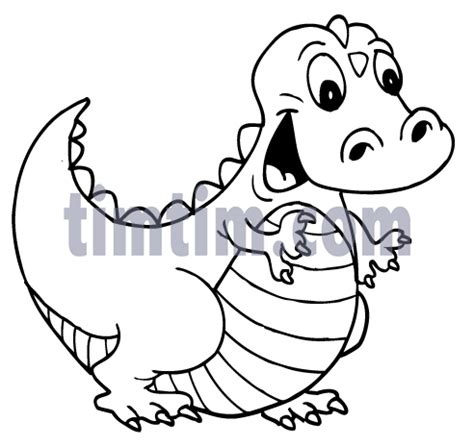 free drawing dinosaur blue bw category