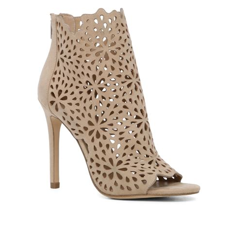 aldo ralidien perforated high heel shoe boots in white lyst