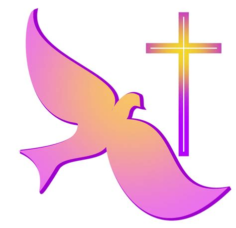 faith symbols classic dove and cross symbols of