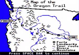map of the oregon trail with landmarks educator innovator deconstructing learning the