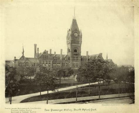 everett depot photograph wisconsin historical