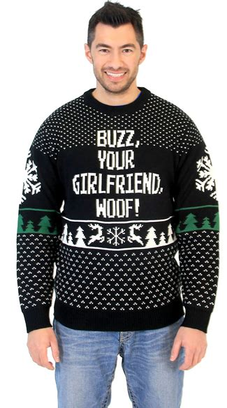 plus size buzz your woof home alone sweater