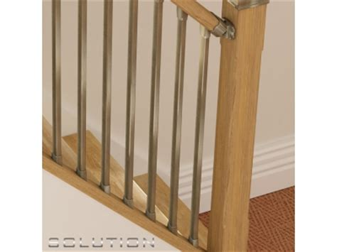 fitting banister spindles solution stairparts chrome spindles oak staircase parts