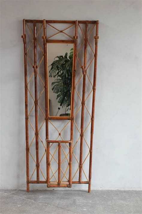 Built In Coat Rack by Bamboo Tree Coat Rack With Built In Mirror And