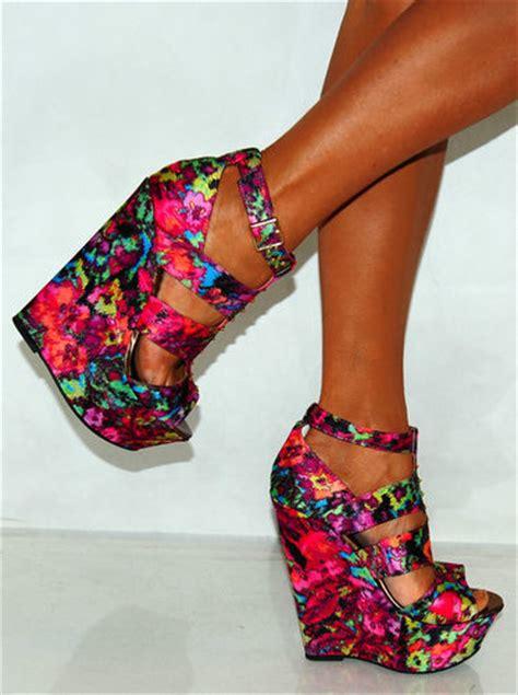 color heels colorful wedge heels fs heel