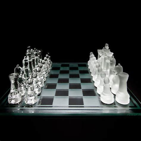 glass chess boards new 35cm x 35cm large 32 piece glass chess set with glass