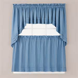 Kitchen Curtains Blue Holden Kitchen Curtain Smoke Blue Linens4less