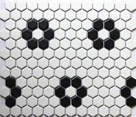 piastrelle sopra piastrelle nero bianco esagonale mosaico in ceramica piastrelle