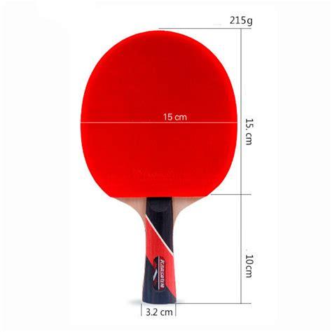 allenamento tennis tavolo 2x racchette tennis da tavolo manico lungo legno principianti