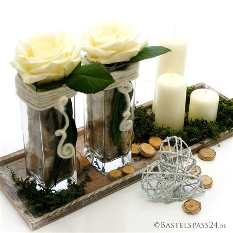 Tischdeko Hochzeit Glasvasen by Tischdeko Selber Machen Mit Und Glasvasen Landhaus