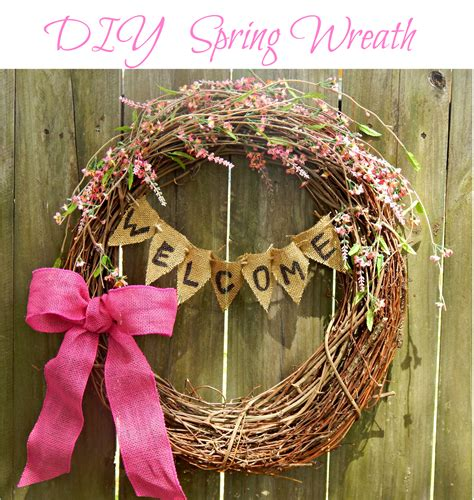 spring wreath diy this ole mom diy spring wreath