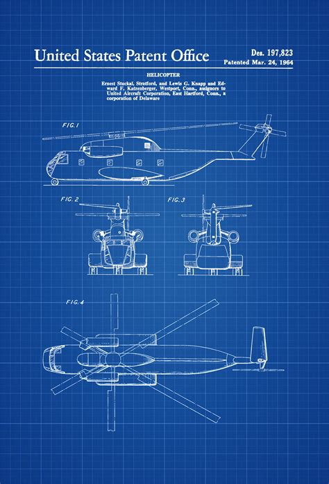 design blueprints 1964 helicopter design patent helicopter blueprint