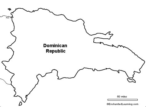 printable map dominican republic outline map dominican republic enchantedlearning com