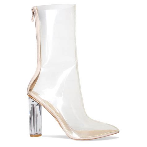 clear boots noelle clear perspex pointed ankle boots simmi shoes