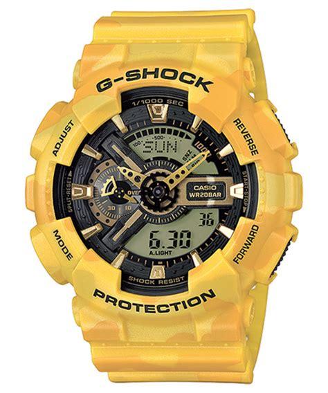 G Shock Kanvas Ga 100 Green Yellow casio g shock ga 110cm quot camouflage quot series freshness mag