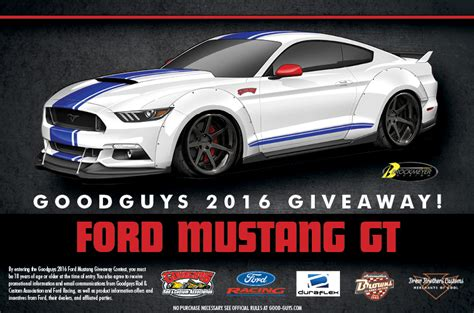 Ford Mustang Sweepstakes - good guys com sweepstakes win dream garage 2016 ford mustang gt
