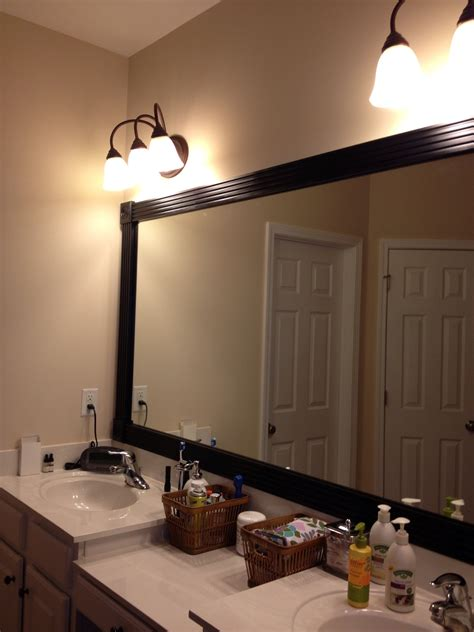 large framed mirrors for bathroom large wall mirror with hand carved black pine wood frame
