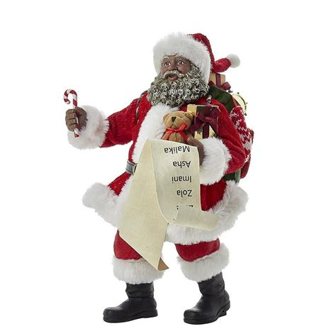 classic african american santa claus figurine by kurt s