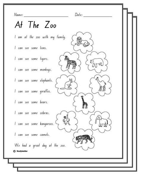 printable zoo activity sheets at the zoo response activity sheets english skills