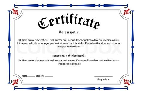 Illustration of education certificate on white background