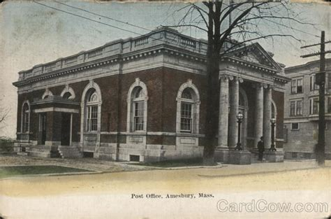Post Office Ma by Post Office Amesbury Ma Postcard