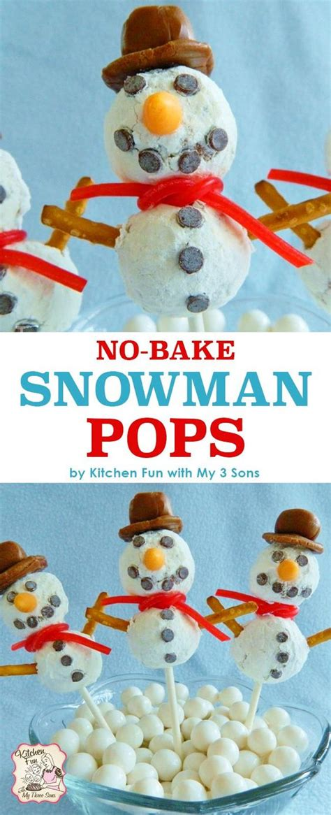 no cook office christmas party food easy no bake snowman pops these treats are great for school winter