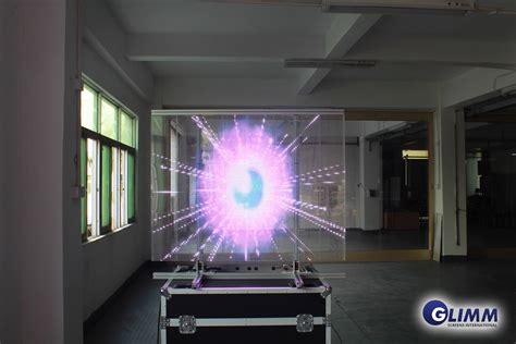 led light window display transparent led in window glass film