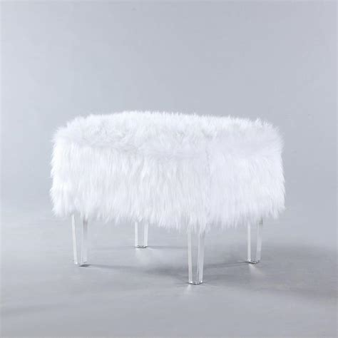 white faux fur ottoman seating products bookmarks design inspiration and ideas