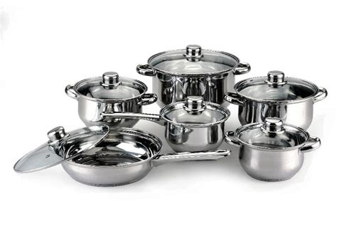 Panci Set Stainless Cookware 12pcs 12pcs jumo stainless steel cookware set mic 1205 china manufacturer kitchen implements