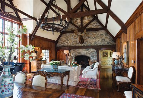english homes interiors traditional comforts a former hunting lodge and the