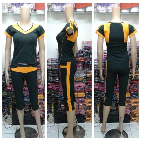 Baju Senam Singlet Celana 34 baju senam setelan celana 3 4 murah bandung baju senam