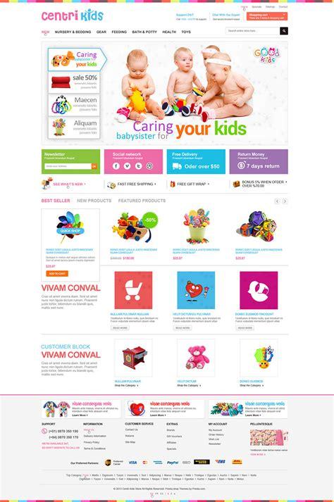 template prestashop free baby store prestashop website templates themes free