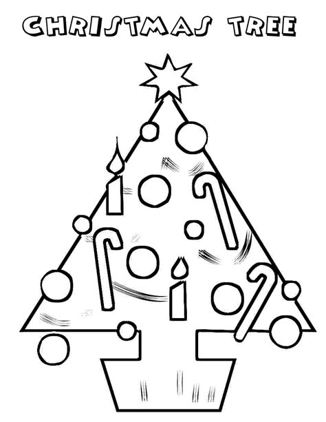 Christmas Trees And Gifts Coloring Pages For Distribution Tree With Gifts Coloring Pages