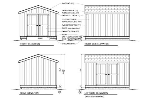 Gable Shed Plans by Woodwork 10x12 Storage Building Plans Pdf Plans