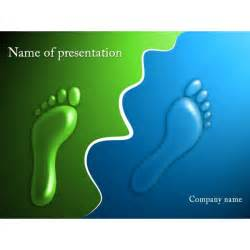 Template For Powerpoint Presentation Free by Footprints Powerpoint Template Background For