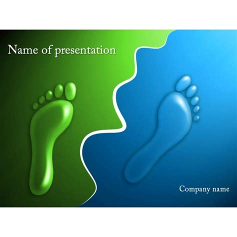 template presentation footprints powerpoint template background for
