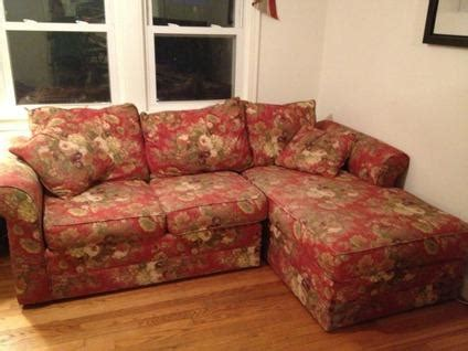 red floral couch  chaise lounge  sale