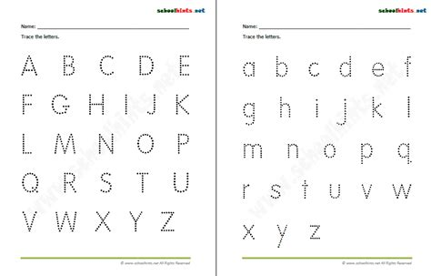 free printable alphabet a z worksheets alphabet tracing a z opossumsoft worksheets