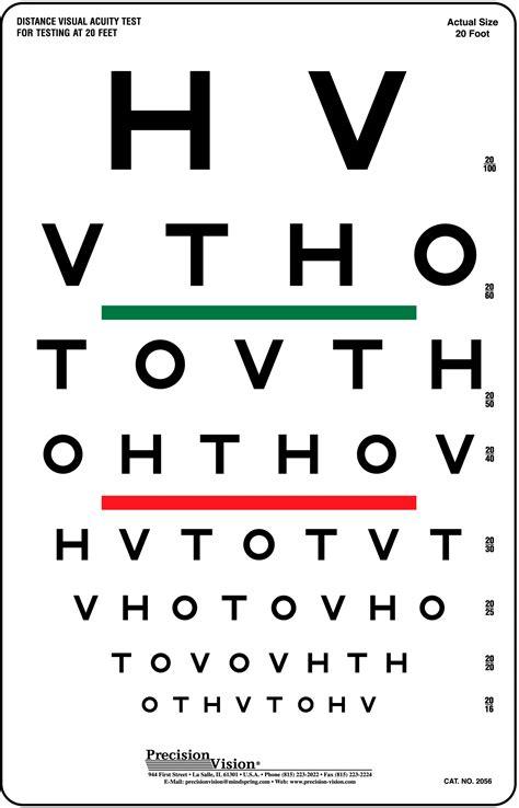 printable eye chart 20 15 hotv visual acuity color vision chart precision vision