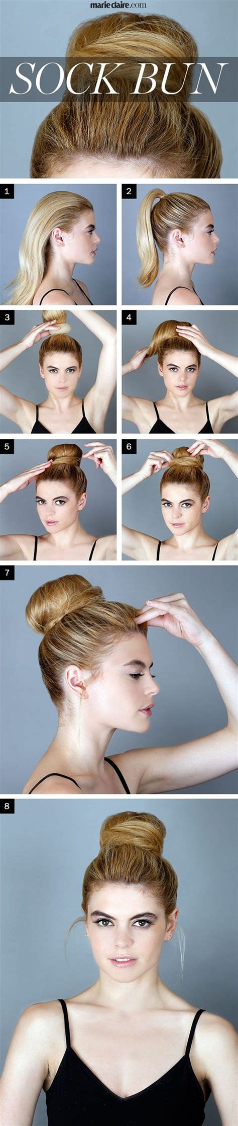 different ways to use donut bun how to make a sock bun 20 different styles