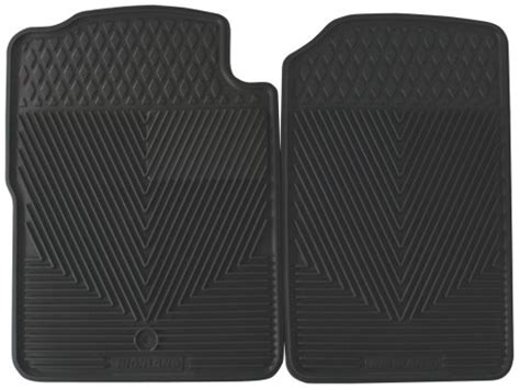 Highland All Weather Floor Mats by Highland 4503800 All Weather Gray Front Seat Floor Mat