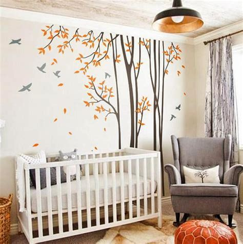 Bird Nursery Decor Birds Trees Forest Wall Arts Nursery Decals Baby Decor Gifts Idecoroom
