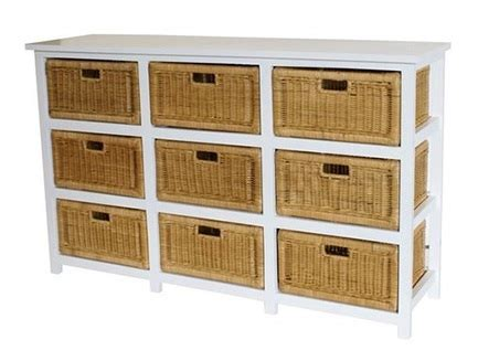 Storage Cabinets: Storage Cabinets With Wicker Baskets