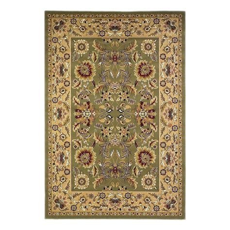 Shop Area Rugs Shop Kas Rugs Kashan Green Rectangular Indoor Woven Area Rug Common 8 X 11 Actual