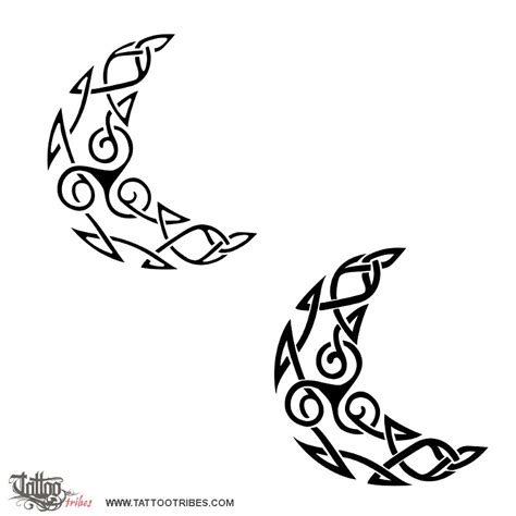 celtic moon tattoo of triskell moon femininity eternity