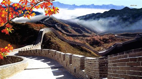 wallpaper for walls china great wall of china wallpaper and background 1366x768