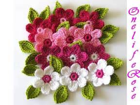 Free Easy Flower Crochet Patterns - free crocheted patterns with flowers crochet tutorials