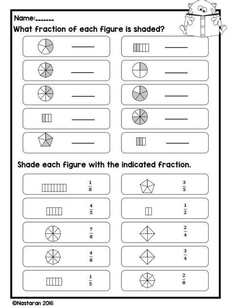 fraction worksheets  grade  equivalent fraction